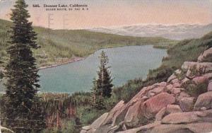 California Donner Lake Aerial View 1916