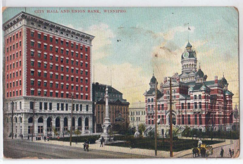 City Hall & Union Bank, Winnipeg, Man