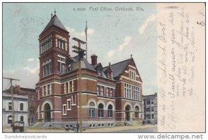 Post Office Oshkosh Wisconsin 1908 Rotograph