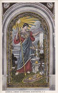 Washington DC Minerva Goddess Of Wisdom Mosaic At Library Of Congress
