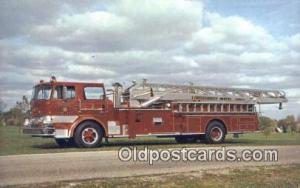 Boyer Aerial, Universal Fire Apparatus Corporation Logansport, IN, USA Postca...