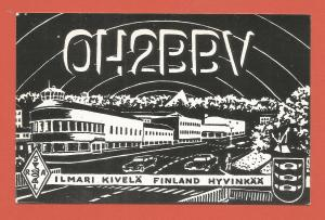 QSL AMATEUR RADIO CARD – HYVINKÄÄ, FINLAND – 1981 – CITY IMAGE