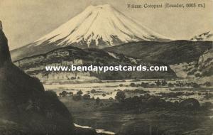 ecuador, Andes Mountains, Volcan Cotopaxi Volcano (1910)