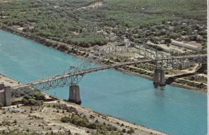 Aerial view of Sagamore Bridge, Cape Cod Canal, Massachusetts, unused Postcard