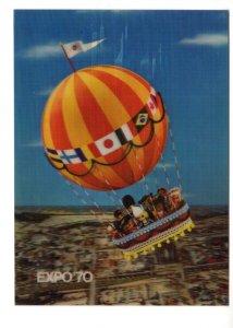 Expo '70 World's Fair, Japan, Vintage 3D  Multiracial, Dolls in Balloon Ride
