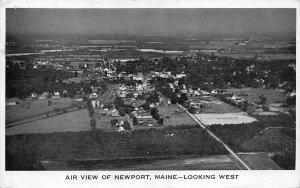 Newport ME Aerial View Looking West Postcard