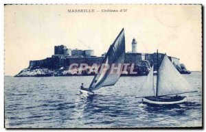 Old Postcard Marseille Chateau d & # 39If Charter