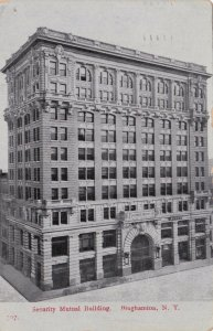 New York Binghampton Security Mutual Bank Building 1909