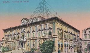 Malta Auberge De Castile Vintage Maltese Postcard