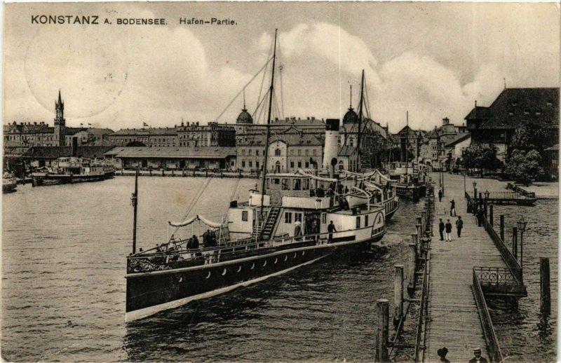 CPA AK Konstanz Hafen-Partie GERMANY (893099)