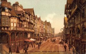 Chester Bridge Street from the Cross Postcard