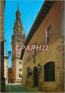 Postcard Modern Santo Domingo de la Calzada (Logrono) Hotellerie National Cat...
