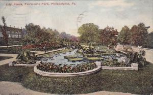 Pennsylvania Philadelphia Lily Ponds Fairmount Park 1915