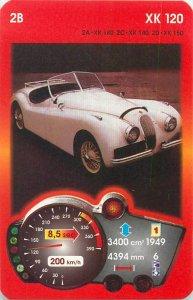 Piatnik 6x9cm auto revue trade card 2B JAGUAR XK 120