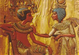 Egypt Back Of King Tut-Ankh-Amen;s Throne Cairo Egyptian Museum