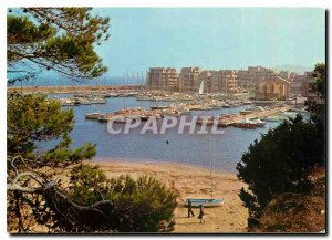 Modern Postcard The French Riviera Var La Faviere Harbor View of Bormes and t...
