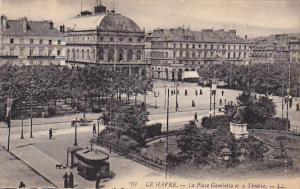 France Le Havre La Place Gambetta et e Theatre
