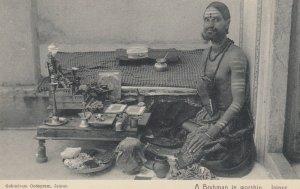 A Brahman in worship , JAIPUR , India , 1900-10s