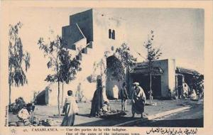 Morocco Casablanca One of the gates of the indigenous town 1920-30s