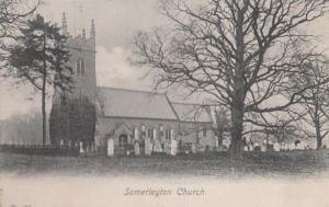 Somerleyton Church Suffolk Old WW1 1917 & Village War Postmark Postcard