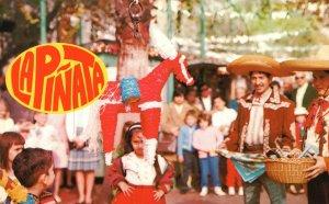 Vintage Postcard 1910's La Piñata Festive Occasion In Mexico Disney Character