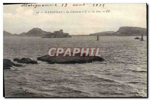 Old Postcard Marseille Le Chateau d'If and the Islands