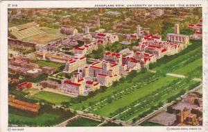 Illinois Chicago Aeroplane View University Of Chicago On The Midway 1939