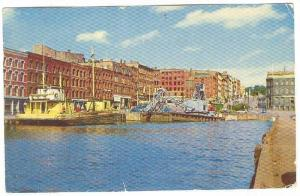HIgh Tide, Market Slip Heart Of Saint John, New Brunswick, Canada, 40-60s