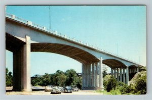 Richmond IN- Indiana, 20th Century Bridge, Whitewater River, Chrome Postcard
