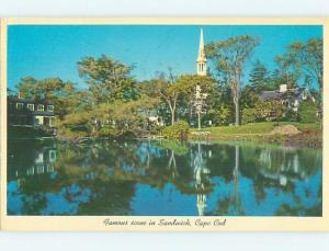 Pre-1980 CHURCH SCENE Cape Cod - Sandwich Massachusetts MA p4296