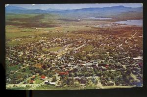 Tupper, New York/NY Postcard, Aerial View Of Community