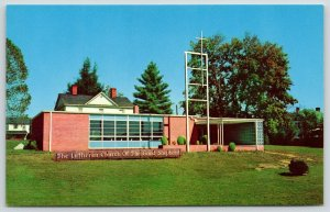 Brevard North Carolina~Summer Trees~Lutheran Church of the Good Shepherd~1950s
