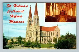 Helena MT- Montana, St Helena's Cathedral, Interior Shown, Chrome Postcard