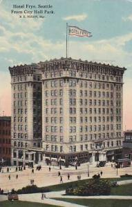 Hotel Frye From City Hall Park, Seattle, Washington, PU-1914