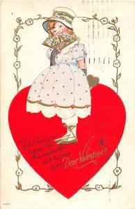 D36/ Valentine's Day Love Holiday Postcard 1924 Toledo Ohio v-211 Heart Girl 5