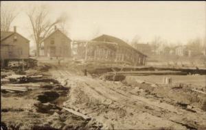 Morrisville or Randolph VT 1927 Flood Damage Real Photo Postcard #1