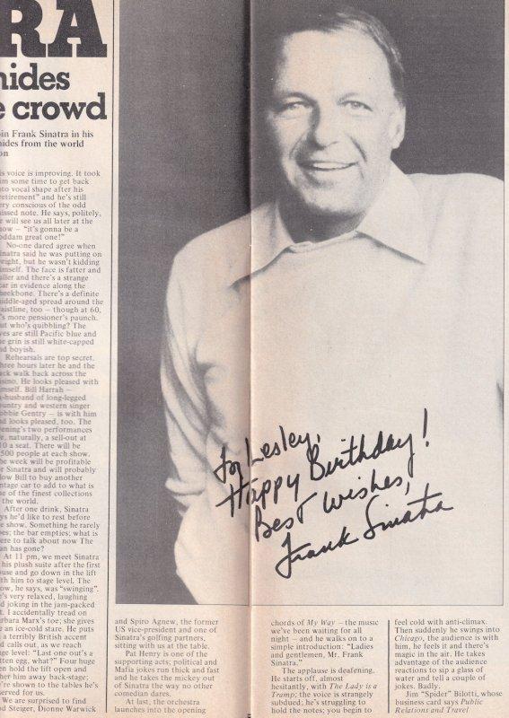 Frank Sinatra Paul McCartney Eleanor Rigby The Beatles 1976 Radio Magazine