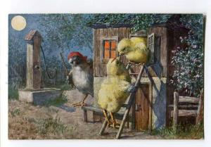256951 Arth. THIELE Dressed Chicken KISS Romeo EASTER old TSN
