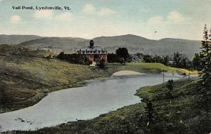 Vail Pond, Lyndonville, Vermont, early postcard, unused