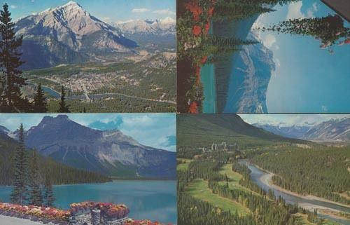 Canadian Rockies Golf Course Banff Cascade Mountain Hotel 4x Postcard s
