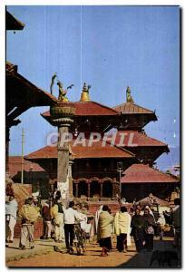 Old Postcard Durbar squre Patan (Lalitpue) Nepal