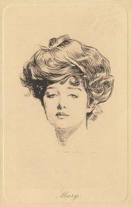 Woman portrait , 1900-10s ; #38A ; Artist Dana Gibson ; Mary