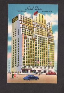 NY Hotel Dixie Times Square Sq New York City Postcard Linen Plantation Bar