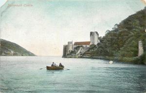 Devon UK~Boat in River Dart by Dartmouth Castle 1910