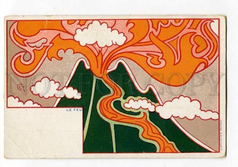 264590 ART NOUVEAU Fire Le Feu by CCT Vintage DIETRICH PC