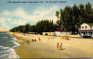 Florida Indian Rocks Beach Beautiful Beach Scene 1960 Curteich