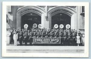 Postcard PA York City Band York Pennsylvania S16