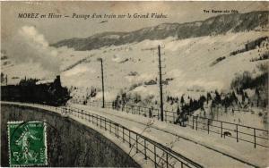 CPA MOREZ en Hiver Passage d'un train sur le Grand Viaduc. (247471)