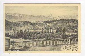 Sketch-Pic du Midi d´ Ossau, the Pyrenees,France 00-10s