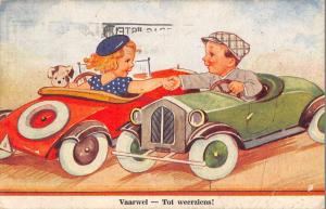 Rotterdam South Holland Netherlands children in toys cars antique pc Y13112